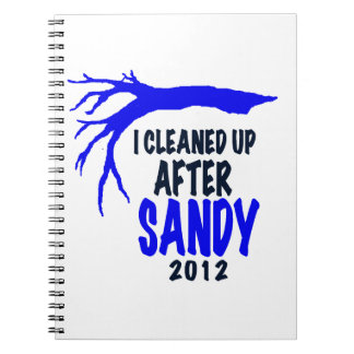 I CLEANED UP AFTER SANDY 2012 NOTE BOOK