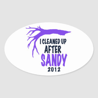 I CLEANED UP AFTER SANDY 2012 OVAL STICKER