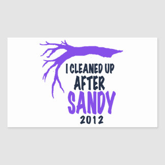 I CLEANED UP AFTER SANDY 2012 RECTANGULAR STICKER