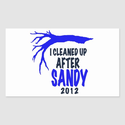 I CLEANED UP AFTER SANDY 2012 STICKERS