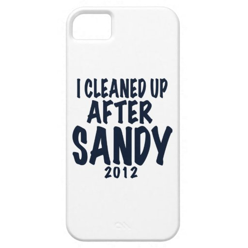 I Cleaned Up After Sandy, Hurricane Sandy gifts iPhone 5 Case