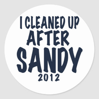 I Cleaned Up After Sandy, Hurricane Sandy gifts Classic Round Sticker