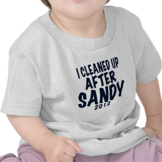 I Cleaned Up After Sandy, Hurricane Sandy gifts Tee Shirts