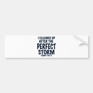 I Cleaned Up After the Perfect Storm Sandy 2012 Bumper Sticker