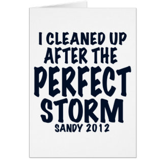 I Cleaned Up After the Perfect Storm, Sandy 2012, Card