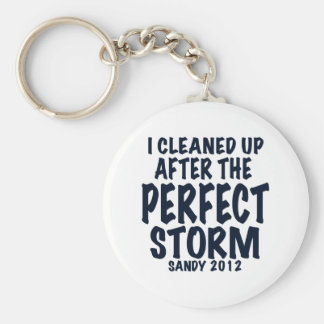 I Cleaned Up After the Perfect Storm, Sandy 2012, Basic Round Button Keychain