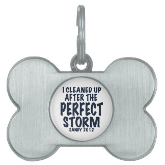I Cleaned Up After the Perfect Storm, Sandy 2012, Pet Name Tag
