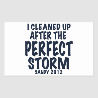 I Cleaned Up After the Perfect Storm, Sandy 2012, Rectangular Sticker