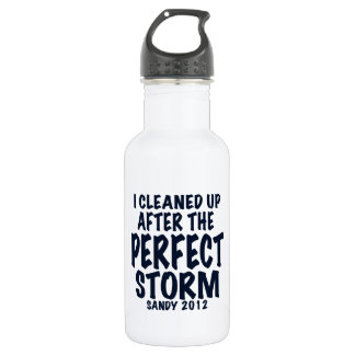 I Cleaned Up After the Perfect Storm, Sandy 2012, Stainless Steel Water Bottle