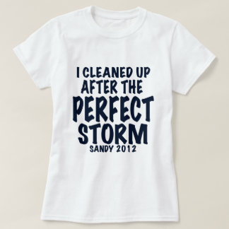 I Cleaned Up After the Perfect Storm, Sandy 2012, Tee Shirt