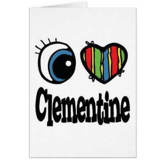 I clementina del corazón (amor) tarjeta de felicitación