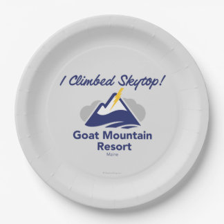 I Climbed Skytop! Paper Plate