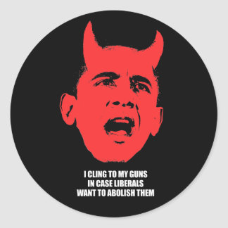 I cling to my guns in case liberals want to abolis classic round sticker