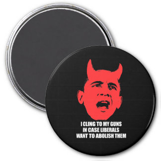 I cling to my guns in case liberals want to abolis 3 inch round magnet