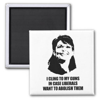 I cling to my guns in case liberals want to abolis 2 inch square magnet