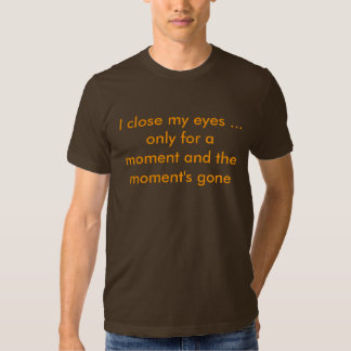 I close my eyes ... only for a moment t shirt
