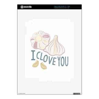I Clove You Decal For iPad 2