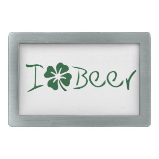 I Clover Beer Belt Buckle