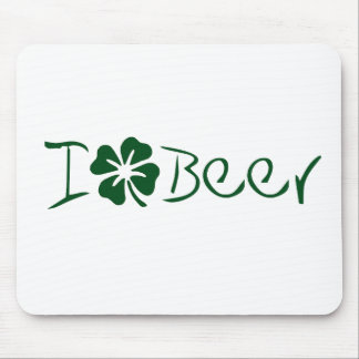 I Clover Beer Mouse Pad