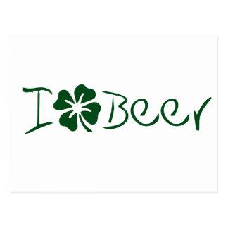 I Clover Beer Postcard