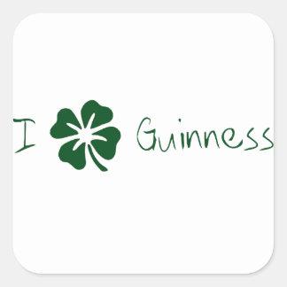 I Clover Guinness Square Sticker