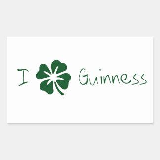 I Clover Guinness Rectangular Sticker