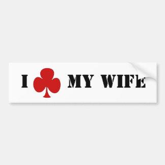 "I ""club"" mi esposa pegatina para auto"