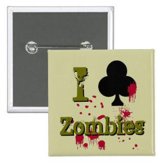 I Club Zombies Pinback Button
