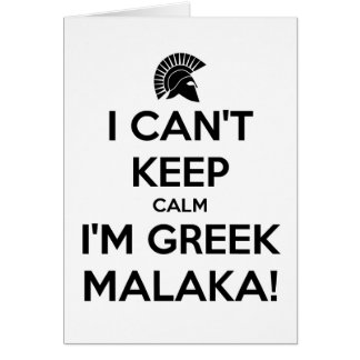 I Cnt Keep Calm Im Greek Card