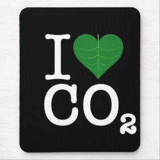 I CO2 del corazón Alfombrilla De Raton