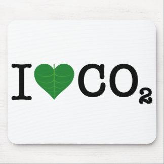 I CO2 del corazón Alfombrillas De Ratón