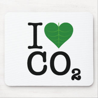 I CO2 del corazón Alfombrillas De Raton