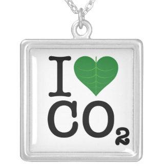 I CO2 del corazón Colgante Cuadrado