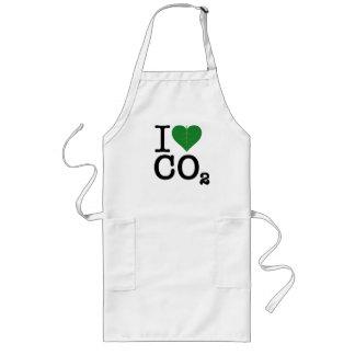 I CO2 del corazón Delantal Largo