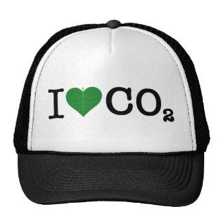 I CO2 del corazón Gorras De Camionero