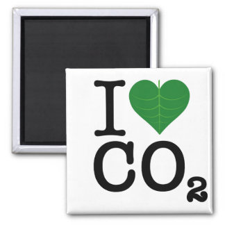 I CO2 del corazón Imán Cuadrado