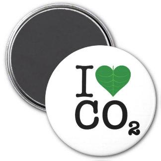 I CO2 del corazón Imán Redondo 7 Cm