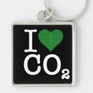 I CO2 del corazón Llaveros