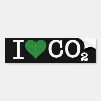 I CO2 del corazón Pegatina Para Auto