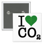 I CO2 del corazón Pin Cuadrada 5 Cm