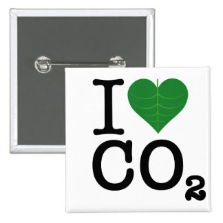 I CO2 del corazón Pin Cuadrado