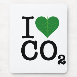 I CO2 del corazón Tapete De Raton