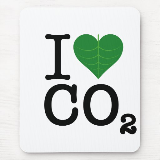 I CO2 del corazón Tapetes De Raton