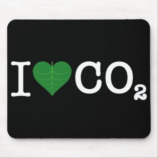 I CO2 del corazón Tapetes De Ratón