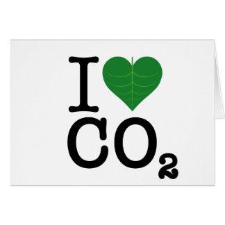 I CO2 del corazón Tarjeta De Felicitación