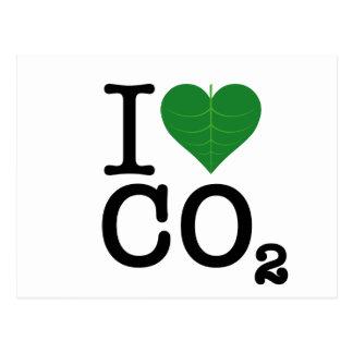 I CO2 del corazón Tarjeta Postal