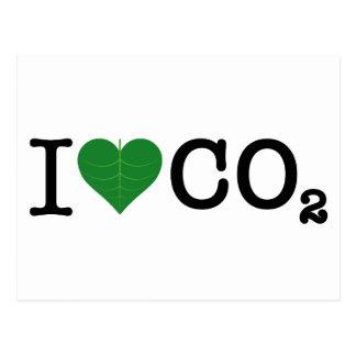 I CO2 del corazón Tarjetas Postales