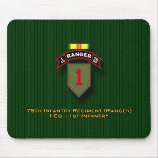I Co, 75.a infantería - guardabosques - 1ros Inf - Tapetes De Ratón