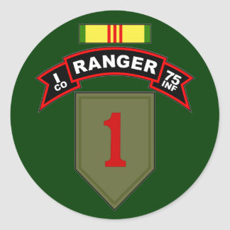 I Co, 75th Infantry Regiment - Rangers, Vietnam Classic Round Sticker