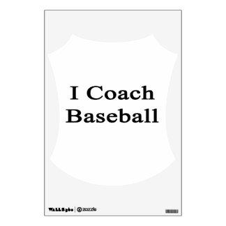 I Coach Baseball Room Decal
